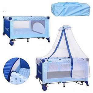 Манеж-кровать M 0823 на колесиках, фото 2