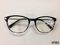 Очки с утонченными дужками. Модель 0506 черные, фото 1