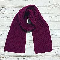 Длинный вязаный шерстяной шарф ручная работа