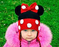 Вязаная шапка. Микки Маус