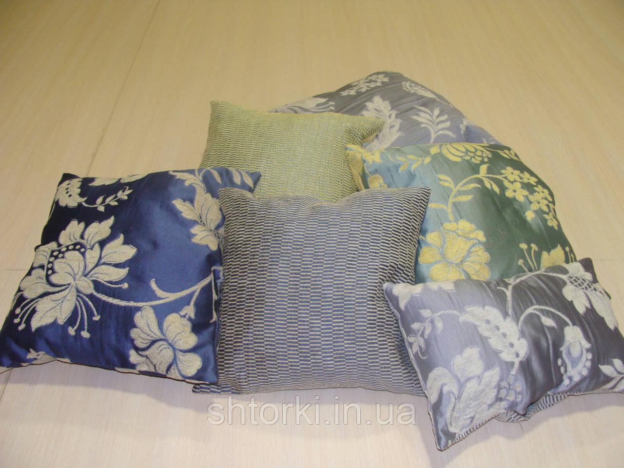 Комплект подушек  Синие и голубые беж , 6шт
