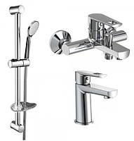 Набор Volle Benita смеситель для раковины 15171100 + смеситель для ванны 15172100 + гарнитур 15146100