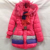 Зимнее пальто для девочки 104-128(4-8 лет) розница опт