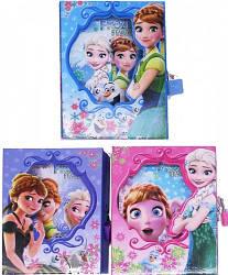 "Блокнот на замочке в коробке ""Зимняя принцесса"" 50л"