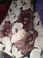 Покрывало-одеяло меховое 210х230. Цветы