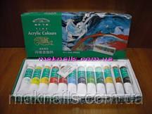 Набор акриловых красок для художественной росписи (12 шт.)