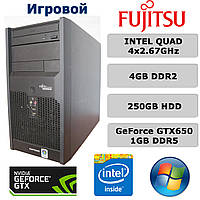 Игровой Fujitsu - 4ЯДРА 4x2.67GHz /4GB RAM /GeForce GTX 650 1GB DDR5 /250GB HDD