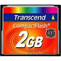 Карта памяти Transcend 2 GB 133X CompactFlash Card TS2GCF133