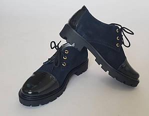 Туфли детские синего цвета
