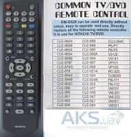 Пульт универсальный Hitachi universal RM-D626(корпус типа  CLE-989(960B)LCD)tv/dvd/vcr