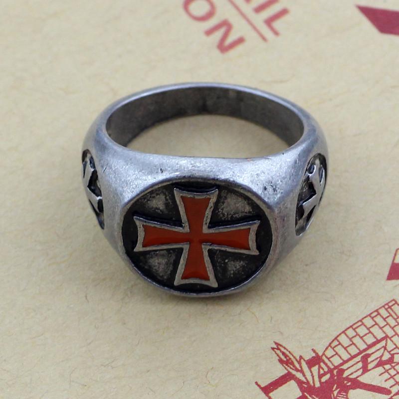 Кольцо перстень тамплиеров!