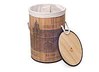 Складная корзина для белья из бамбука