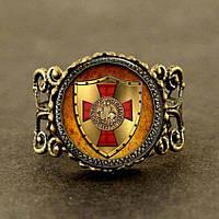Старинное кольцо тамплиеров: изысканная ручная работа!
