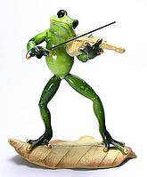 Фигурка для декора Лягушка скрипач