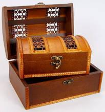Шкатулки сундуки для подарка деревянные набор 2 шт