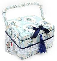 Шкатулка из ткани для рукоделия и шитья