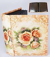 Семейный фотоальбом с красивыми цветами