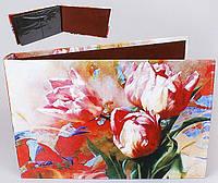 Альбом с рисунком тюльпанов для фотографий