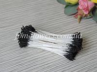 Тайские тычинки черные удлиненные на белой нитке, фото 1