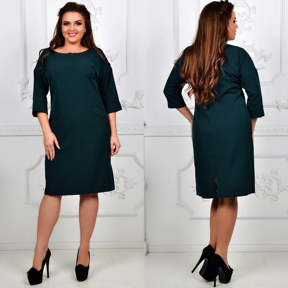 Платье модель 792 , темно зеленый