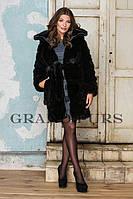 Шуба женская из искусственного меха молодежная №144 черная,магазин шуб