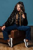 Шуба женская из искусственного меха молодежная №144 шоколад,магазин шуб