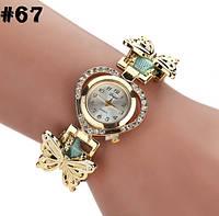 Женские часы с ремешком мятного цвета Duoyuo (67)