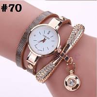 Женские часы с коричневым ремешком Carude (70)