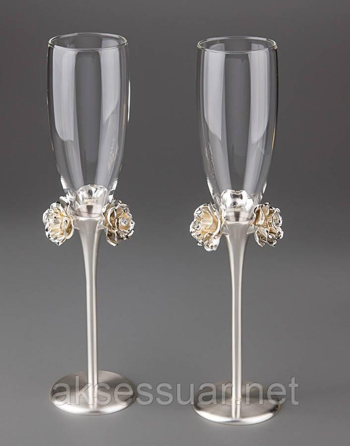 Бокалы для шампанского Розы