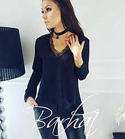 Элегантная блуза с кружевом