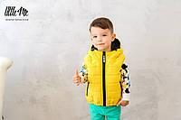 Дутая жилетка на мальчика ( желтая)