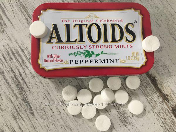 Мятные конфетки ALTOIDS peppermint для освежения дыхания