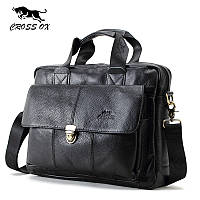 Портфель деловой мужской из натуральной кожи CROSS OX HB316F (черный)