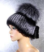 Шапка женская,парик, норка и чернобурка артик