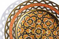 Шикарная коллекционная тарелка! Латунь,эмаль!, фото 1