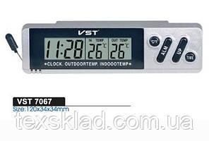 Автомобильные часы с датчиком температуры VST-7067