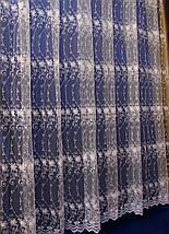 Фатиновая тюль с вышитыми цветами кремового цвета 8KC016, фото 3