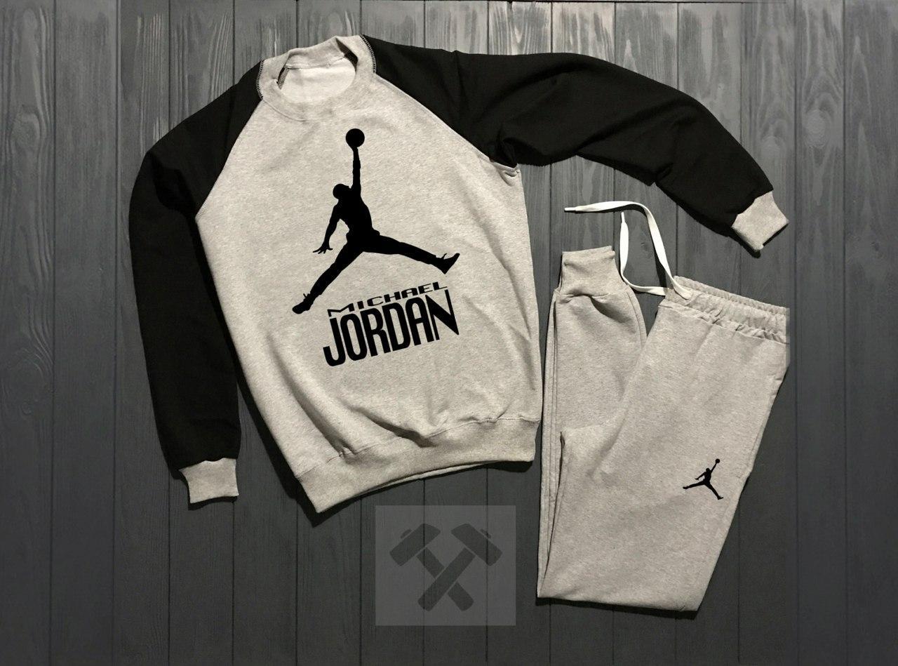 b5ef48ae Мужские спортивные костюмы Jordan (джордан)(свитшот+штаны) хлопок 90 ...