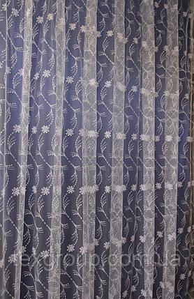 Тюль фатин мягкий Турция с нежным орнаментом, фото 2