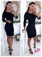 Женское красивое платье с жемчугом (2 цвета), фото 1