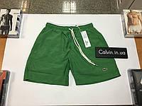 Шорты плавки Lacoste зеленые new