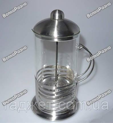 Стеклянный заварочный чайник с поршнем/ чайничек заварной стеклянный / заварник / кофейник / фрэнч пресс , фото 2