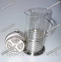 Стеклянный заварочный чайник с поршнем/ чайничек заварной стеклянный / заварник / кофейник / фрэнч пресс , фото 3