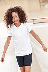 Школьная рубашка поло белого цвета Некст на девочку Хлопок Размер 122