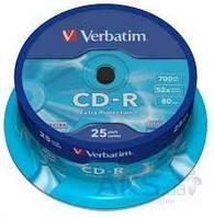 Диск Verbatim CD-R 700Mb 52x Cake box 25 Printable (43439)