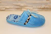 Тапочки комнатные женские голубые Тп32 р 36-37,38-39