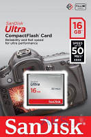 Карта памяти SanDisk 16GB Compact Flash Ultra (50MB/s) (SDCFHS-016G-G46)