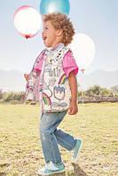 Детские джинсы NEXT с радугой на девочку 5-6 года