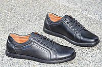 Туфли, мокасины мужские популярные черные исскуственая кожа Китай. Со скидкой