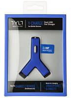 Зарядное устройство TYLT Y‐CHARGE Car Charger 2.1А BLUE (YCHG42BL-T)
